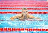 Daugiau nei pusę distancijos pirmavęs A.Šidlauskas iškovojo pasaulio jaunimo plaukimo čempionato bronzą