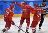 Olimpiniame vyrų ledo ritulio turnyre paaiškėjo atkrintamųjų varžybų poros