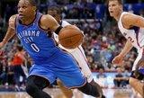 """""""Thunder"""" krepšininkai išsivežė pergalę iš Los Andželo ir praktiškai užsitikrino antrąją vietą Vakarų konferencijoje"""