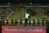 Legenda sugrįžo į Europą: U.Boltas šventė pergalę pasaulio taurės varžybose