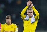 """R.Lewandowskis davė patarimą """"Real"""" dėmesio sulaukusiam E.Haalandui"""
