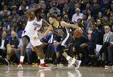 """S.Curry prajuokino """"Clippers"""" savininko poelgis"""