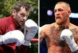 Dublino boksininkas žada paauklėti viskio atsisakiusiam vyrui trenkusį C.McGregorą: iškvietė į kovą, o MMA kovotojas supyko ir sutiko