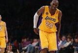 """""""Lakers"""" vadovas: """"Bryantas aikštelėje pasirodys jau ikisezoninėse rungtynėse"""""""