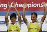 Irkluotojos D.Vištartaitė ir M.Valčiukaitė fantastiškai triumfavo pasaulio čempionate, S.Ritter ir R.Maščinskui - sidabras! (D.Grybauskaitės sveikinimas)