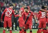"""""""Stuttgart"""" ekipą patiesusi """"Bayer"""" kyla į 4-ą """"Bundesliga"""" vietą"""