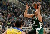 """L.Lekavičius sužaidė rezultatyviausias sezono rungtynes ir buvo vienas iš pagrindinių """"Panathinaikos"""" pergalės kalvių"""