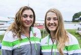 Pasaulio jaunių irklavimo čempionate dėl medalių kovą tęsia U.Juzėnaitė ir D.Rimkutė