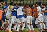 Per pridėtą teisėjo laiką pergalę pasiekusi Graikija pateko į pasaulio čempionato aštuntfinalį