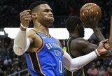 """R.Westbrookas – apie trigubo dublio statistiką: """"Jei to nenorite, aš padarysiu"""""""