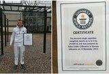 Aidas Saulis oficialiai tapo Gineso pasaulio rekordininku