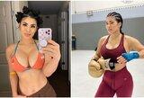"""UFC kovotoja po skandalo grįžta į narvą: """"Nėštumo testas – neigiamas"""""""