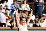 Galingas spurtas Indian Velse išgelbėjo geriausią planetos tenisininkę