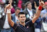 """N.Djokovičius ir R.Federeris – """"French Open"""" turnyro aštuntfinalyje"""