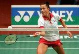 A.Stapušaitytė nepateko į badmintono turnyro Portugalijoje pusfinalį