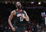 """48 taškai J.Hardeno taškai ir devinta """"Rockets"""" pergalė paeiliui"""
