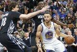 """Netikslus S.Curry metimas paskutinėmis sekundėmis ir dar viena """"Warriors"""" nesėkmė"""