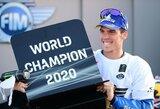 """J.Miras tapo naujuoju """"MotoGP"""" čempionu, F.Morbidelli pergalę nulėmė 0.093 sek."""
