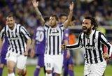 """Magiškas A.Pirlo baudos smūgis leido """"Juventus"""" klubui patekti į Europos lygos ketvirtfinalį (+ kiti rezultatai)"""