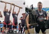 Svajonių diena Lietuvos galiūnams: broliai Lalai laimėjo komandinį pasaulio čempionatą, M.Brusokas – pasaulio jaunimo čempionas