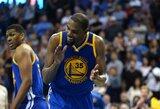 """Nušvilptas K.Durantas emocingoje dvikovoje paskandino """"Thunder"""" komandą"""