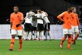 Trilerį Nyderlanduose laimėję vokiečiai pergalingai pradėjo atranką į Europos čempionatą