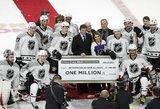 """NHL """"Visų žvaigždžių"""" savaitgalio atomazga: du įvarčiai per penkias sekundes, kurie padovanojo žaidėjams milijoną JAV dolerių"""