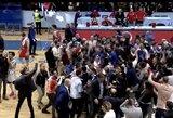 Pamatykite neeilinį džiaugsmą: Kosovo komanda su D.Krestininu pirmą kartą pateko į FIBA Europos taurės atkrintamąsias