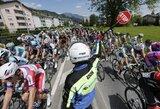 """Dviratininkas A.Kruopis penktajame """"Tour de Suisse"""" lenktynių etape vėl liko tarp autsaiderių"""