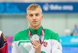 Pasaulio jaunimo rekordą pagerinusiam rusui nusileidęs A.Šidlauskas Europos žaidynėse iškovojo sidabro medalį (komentaras)