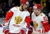 Rusai ir kanadiečiai pasaulio ledo ritulio čempionate be gailesčio triuškino varžovus