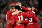 """Trijų įvarčių persvarą iššvaistyti sugebėję """"Liverpool"""" vos išsaugojo pergalę prieš """"Salzburg"""""""