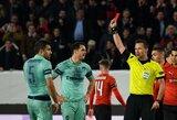 """Siurprizas Europos lygoje: raudoną kortelę išvydę """"Arsenal"""" patyrė skaudų pralaimėjimą Prancūzijoje"""