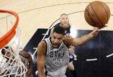 """""""Spurs"""" atkrintamąsias pradėjo triuškinančia pergale"""