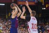 """""""Barcelona"""" pusfinalyje """"sausu"""" rezultatu iš tolimesnių kovų eliminavo R.Seibučio atstovaujamą """"Tecnyconta"""" ekipą"""