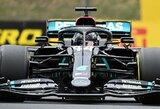 """L.Hamiltonas sutriuškino rato rekordą ir iškovojo 90-ą karjeros """"pole"""" poziciją"""