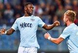 """Italijos """"Serie A"""": """"Lazio"""" sutriuškino varžovus, o """"Roma"""" išplėšė lygiąsias"""