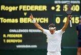 Legenda nestabdo: R.Federeris pateko į Vimbldono finalą ir sieks pagerinti visų laikų rekordą