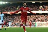 """Anglijoje """"Liverpool"""" sutriuškino """"Brighton"""", o M.Salah tapo rezultatyviausiu sezono žaidėju """"Premier"""" lygos istorijoje"""