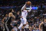 """Dar vienas R.Westbrooko trigubas dublis pažymėtas nelengva """"Thunder"""" pergale"""
