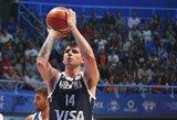 Argentina pranoko Juodkalnijos rinktinę
