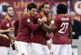 """""""Roma"""" ir """"Juventus"""" iškovojo triuškinančias pergales Italijoje"""