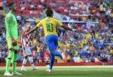 """Neymaras nesivaiko Brazilijos legendų pasiekimų: """"Įvarčiai yra tik skaičiai"""""""