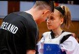 G.Meištininkaitė Europos jaunių taekvondo čempionate nepateko į ketvirtfinalį