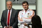 """V.Del Bosque atskleidė blogus santykius: """"I.Casillasas buvo vienintelis, kuriam neparašiau, kad palieku rinktinę"""""""