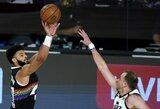 """NBA atkrintamųjų starte – """"Nuggets"""" pergalė ir rekordinis D.Mitchello pasirodymas"""