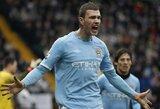 "E.Džeko: ""Esu per geras, kad ""Manchester City"" klube sėdėčiau ant suolo"""