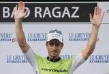 """Dviratininkas A.Kruopis aštuntąjį """"Tour de Suisse"""" etapą baigė priešpaskutinis"""