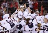 JAV moterų ledo ritulio rinktinė penktą kartą tapo pasaulio čempione