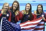 Olimpiados medalių įskaitoje kinai nepaleidžia į priekį amerikiečių